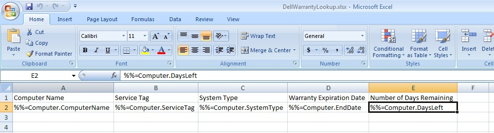 OfficeWriter for the IT Pro: Automated Dell Warranty Lookup using Powershell and ExcelTemplate