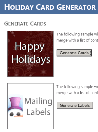 Holiday Card Generator